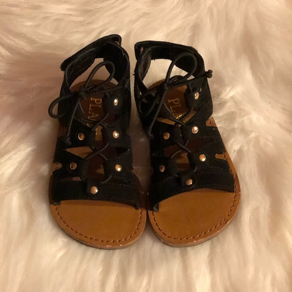 Children's Place Other - Toddler Girl Black Suede Gladiator Sandal
